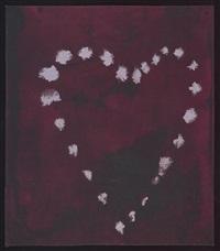 heart / handdoek zweiseitiger by luc tuymans