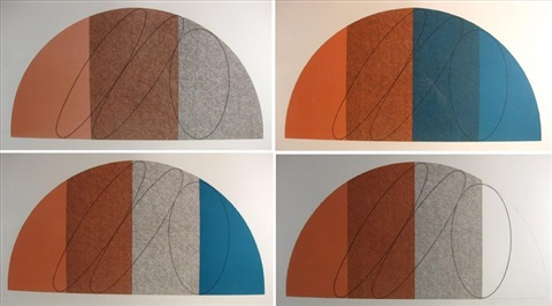 semi circle i iv 4 works by robert mangold