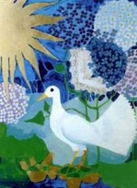 weiße taube in landschaft by rosina wachtmeister