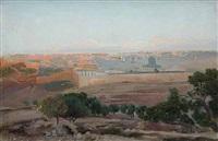 view of jerusalem by gustav bauernfeind