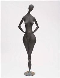 weibliche brunnenfigur by ernst geserer