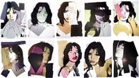 mick jagger announcement cards (full set of 10) by andy warhol