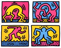 pop shop ii (complete set of 4 works) by keith haring