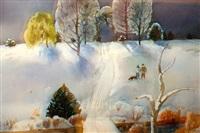 winter in iowa by millard sheets
