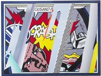 reflections on crash (from the reflections series) by roy lichtenstein