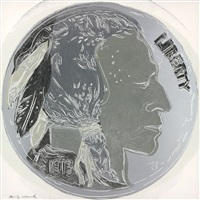 indian head nickel (from cowboys and indians) by andy warhol