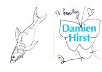shark, heart and butterfly (2 works) by damien hirst