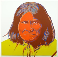 geronimo (from cowboys and indians) by andy warhol