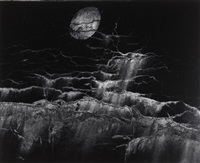 moon and wall encrustations, putneyville, new york by minor white