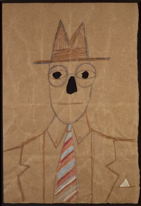 untitled (bag man with tie) by saul steinberg