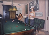 leisa and katie in the pool room by delia brown