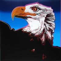 bald eagle (from endangered species) by andy warhol