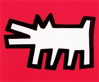 barking dog (from icons) by keith haring