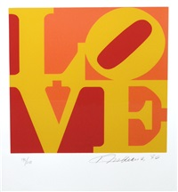 two plates from the book of love by robert indiana