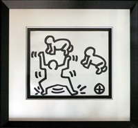 untitled (figure with babies) by keith haring
