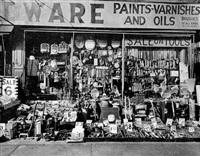 hardware store, 316-318 bowery, new york by berenice abbott