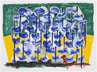 slow forest (from some new prints) by david hockney