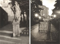 fountain at schonbrunn and gate, volkspark friedrichshain, berlin (2 works) by david armstrong