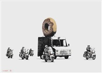 donuts (chocolate) by banksy
