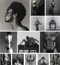 portfolio z (complete set of 13 works) by robert mapplethorpe