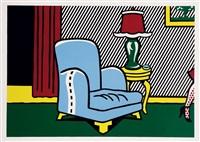 la sortie (from interior series) by roy lichtenstein