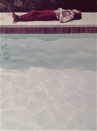 yves-marie asleep (from twenty photographic pictures) by david hockney
