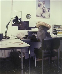 the office worker by william wegman