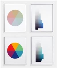 six part hue circle (+ 3 works) by robert swain