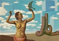 une jeune femme (from les enfants trouves) by rené magritte