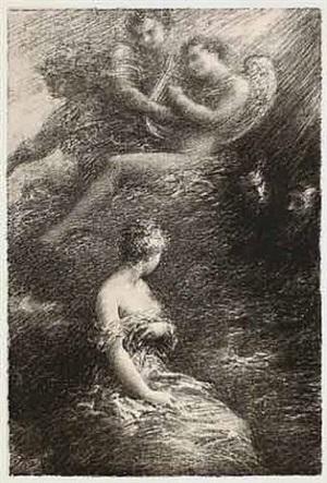 la damnation de faust (apparition de marguerite) by henri fantin-latour