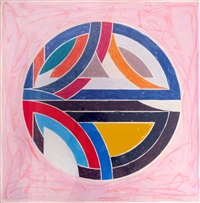 sinjerli variation squared with colored ground iii by frank stella