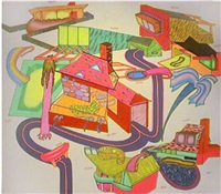 suburban houses i by peter saul