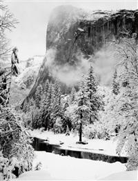 el capitan, yosemite valley, winter by ansel adams