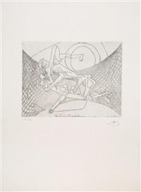 new school (full portfolio of 10 prints) by roberto matta