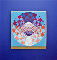 untitled op art geometric abstraction by victor vasarely