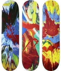 spin skate decks (set of 3) by damien hirst
