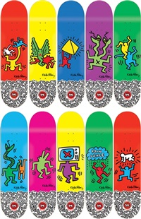 skate decks (set of 10) by keith haring