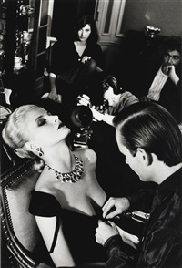 woman being filmed, paris by helmut newton