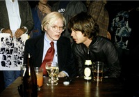 andy warhol and mick jagger at the love you live record release party in nyc by richard e. aaron