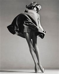 veruschka, dress by bill blass, new york studio, january by richard avedon