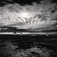 quixote's giants, study 6, campo de criptana, spain by michael kenna