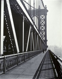 walkway, manhattan bridge by berenice abbott