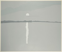 sunset, lake wesserumett ii by alex katz