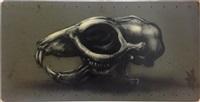 rat skull by roa