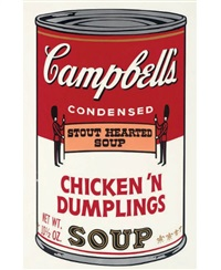 chicken 'n dumplings (from campbell's soup ii) by andy warhol