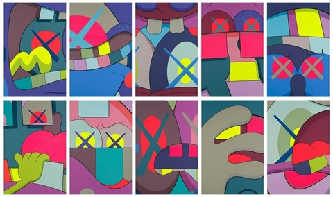 ups and downs complete set of 10 by kaws