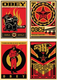 20 year retro series (4 works) by shepard fairey
