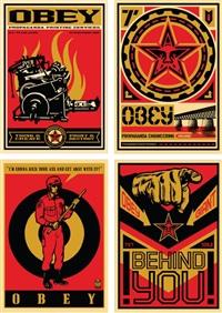 20 year retro series (4 works) by shepard fairey
