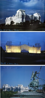 wrapped reichstag, berlin, 1971-1995 (3 works) by christo and jeanne-claude