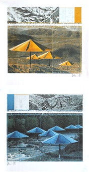 the umbrellas (2 works) by christo and jeanne-claude